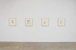 Installation view of Betty Tompkins Sex Works / WOMEN Words, Phrases and Stories