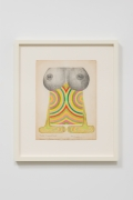 Betty Tompkins, Double Breast Drip, 1971