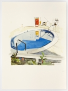Pool, 2014, Watercolor on paper