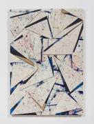 Untitled (crdbrd.wht.flr.ppr.wht.crdbrd.trngls.), 2016, Gouache, acrylic, graphite, glue, paper, cardboard, aluminum and wood panel