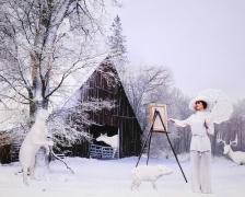 Marnie Weber The Farm on a Snowy Day, 2019