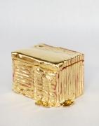 Nancy Lorenz, Gold Cardboard Box, 2019