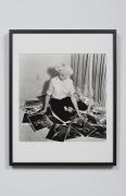 Bunny Self Portrait Viewing Photographs, Miami, FL, 1959