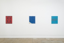 Installation view of Andrew Brischler Storms