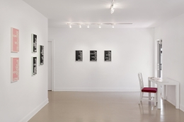 "Installation view of Maynard Monrow ""Under the Influence"""