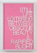 Maynard Monrow, Untitled / Rarified Blight (Grey/Pink), 2018