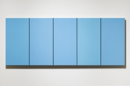Brian Wills, Untitled (Peacock blue Poly), 2014