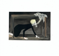 The Art of Dressing (Tilda), 2015, Gouache on paper