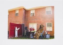 Furry Man's Backyard Has Tasty Treats, 2014, Collage on inkjet print
