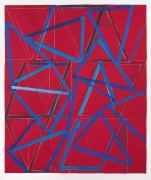 Lecia Dole-Recio, Untitled (rd.ppr.bl.trngls.pnk.Ins.), 2014