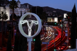 Champ, 2018-2019 installation, Public sculpture on Sunset Boulevard outside of The Standard in Hollywood through February 2019
