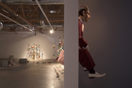 """Installation view of Marnie Weber """"Chapel of the Moon"""""""