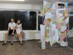 "Alexis Teplin ""He and Ho for O"" performance at Rise Projects, London"