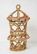 Gold Birdcage with Triangles, 2015, Glazed ceramic