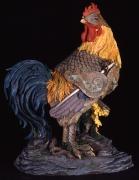 Battle Rooster, 2008, Foam, wood, fiberglass, Aqua-resin, cold cast metal, epoxy and