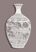 Vase-Re(location), 2013 Cut Paper Chinese xuan (rice) paper on silk