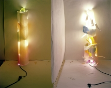 "No. 131, ""Light In and Out of White Tube with Multi Colors Inside"", 1979/2012"