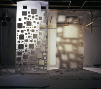 """No.805, 2009 """"White with Holes Lit from Front and White Lit from the Back with Shaddows from Other White"""""""