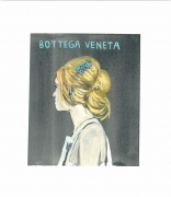 A Splash of Flash (Bottega Veneta), 2015, Gouache on paper