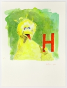 """""""H"""" is for Heroin, 2015, Watercolor on paper"""