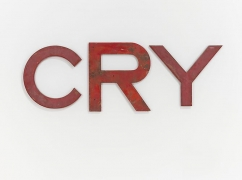 Cry, 2009 Metal, wood and plastic