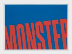 Andrew Brischler MONSTER (Cerulean Blue/Red Slide), 2018-2019