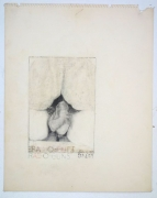 Betty Tompkins eras-o-butt/raz-o-buns, 1973