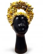 Bessie, 2015, Terracotta, porcelain, gold, epoxy, india ink