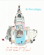 Le Petit Paris, 2013, Gouache on paper