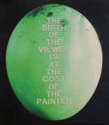 The Birth of the Viewer, 2008, Pigment and embroidery on canvas