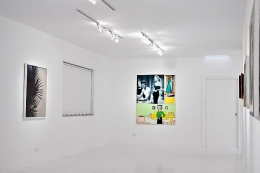 "Installation view ""The Palm Beach Beach Story, or Whatever Happened to Baby Jane"""