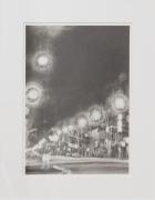 Houston Street Lights, 2016, Graphite on paper