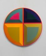 Untitled (depression), 2016, Urethane paint on mdf