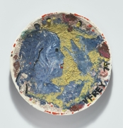 Viola Frey Crocker Series II (Blue Profile, Hand Drawing Horse), 1978