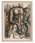Viola Frey Nude Man with Knee on Chair, 1987-88