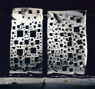 """No.698, 2008 """"Holes in White and Holes in White Lit from Front"""""""