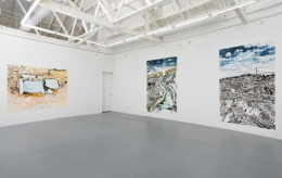 "Installation view of ""Vague Terrains/Urban Fuckups"""