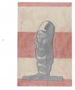 New Iberia, 1981, Graphite and oil-based enamel on paper