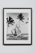 Bunny in Lotus Position on Beach in Handmade Suit - Miami Beach, FL, 1963