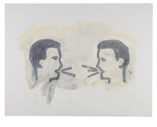 Vocabulary Lesson, 1981, Graphite and oil-based enamel on paper