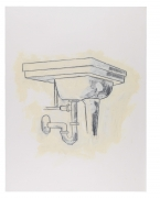 Sink, 1981, Graphite and oil-based enamel on paper