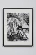 Bunny at Picnic Table in Handmade Bikini - Miami, FL, 1963