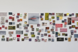 "Betty Tompkins ""WOMEN Words, Phrases and Stories"" Installation View"