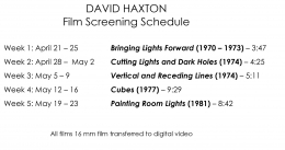 "David Haxton ""Cut To: Paper & Film"""