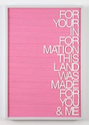 Maynard Monrow, Untitled / For You & Me (Grey/Pink), 2017