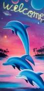 Cosmic Dolphins Beach Towel, 2019, 150 × 73 cm
