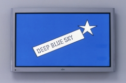Lawrence Weiner, DEEP BLUE SKY