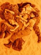 Wolfgang Tillmans, Lutz Alex Susanne & Chrisoph on beach (orange)