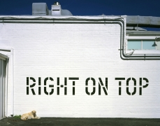 Lawrence Weiner, RIGHT ON TOP