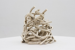 Knotted, 2016, polished bronze